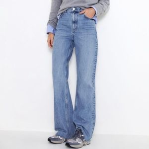 Zara high rise wide leg jeans